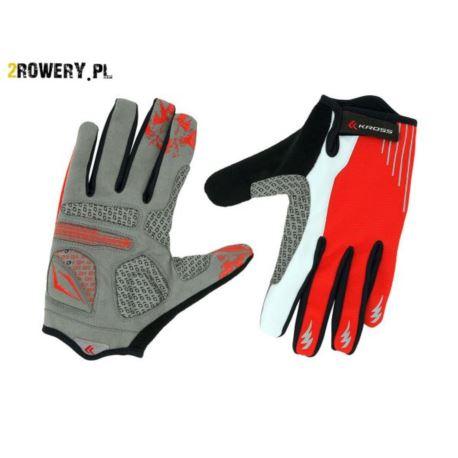 Rękawiczki KROSS Vulcan roz.L czerwono-białe