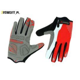 Rękawiczki KROSS Vulcan roz.XL czerwono-białe