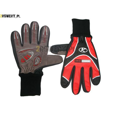 Rękawiczki KROSS WC-3523R roz.M czerwono-czarne