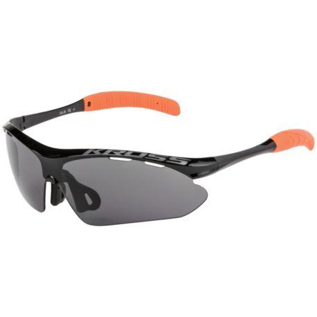 Okulary KROSS SX-B UV400 oprawki czarno-pomarań.