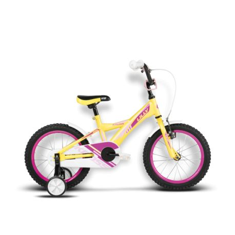 Rower KROSS Lilly 16'' 2016r cytrynowo-różowy